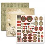 Набор бумаги для скрапбукинга Винтажный Птицы