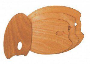 Палитра деревянная (фанера), овальная