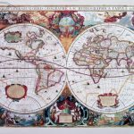Репродукция Карта 17 века 40х50