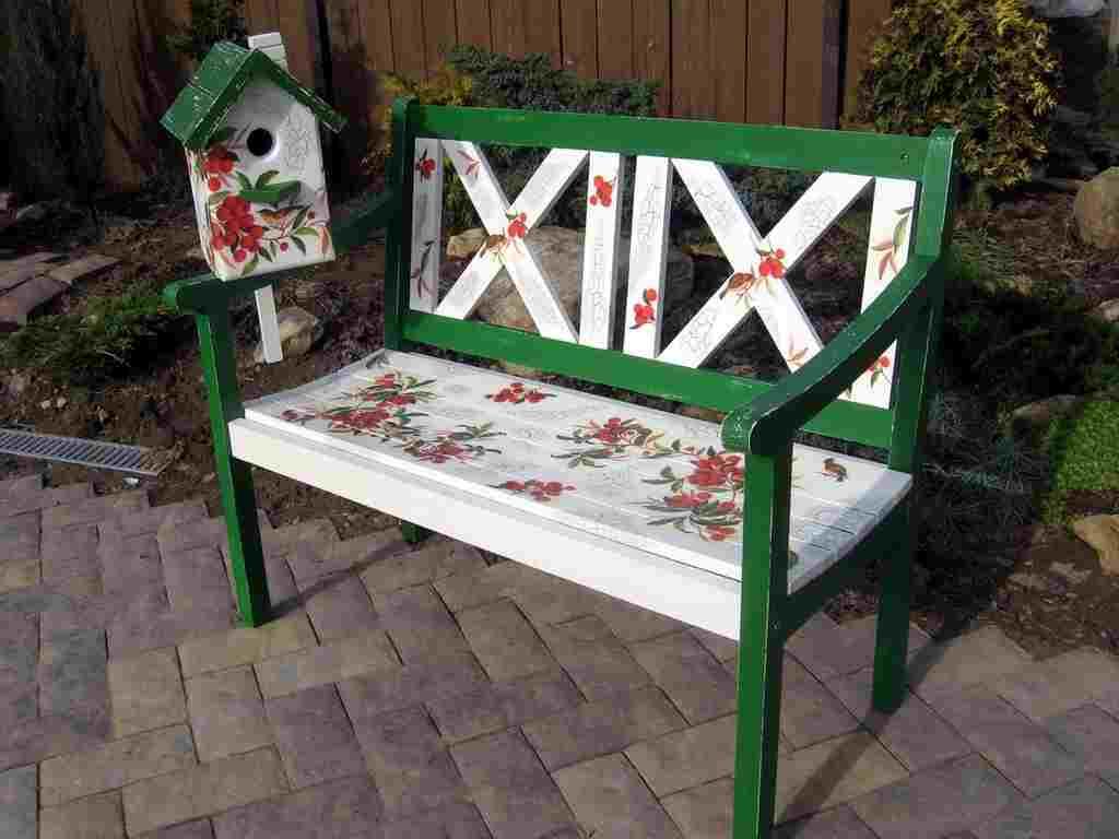 Рисунок на скамейке своими руками 76
