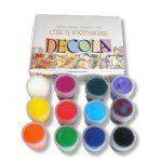 Наборы акриловых красок по стеклу и керамике, 20мл, Decola