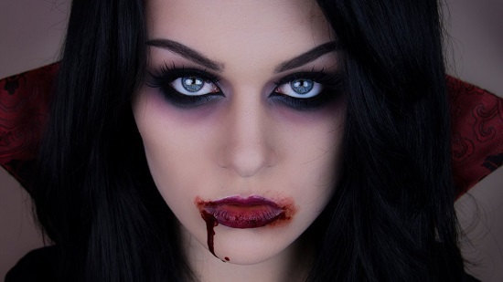 Макияж вампира в домашних условиях фото