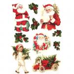 Декупажная карта на рисовой бумаге Рождество. Санта