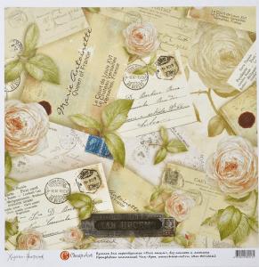 Бумага для скрапбукинга 3030 Для писем Розы