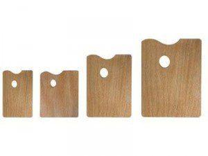 Палитра деревянная (фанера), прямоугольная