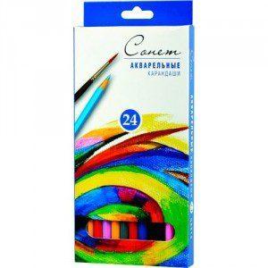 Акварельные карандаши Сонет 6 цв., 12 цв., 18 цв