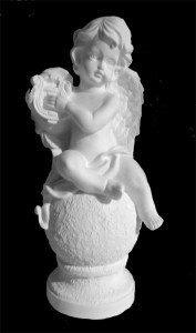 Ангел с арфой гипсовый