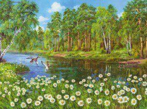Репродукция Ромашки у реки 50х70