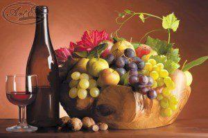 Репродукция Вино и виноград 30х40