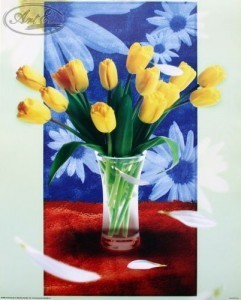 Репродукция Желтые тюльпаны 40х50