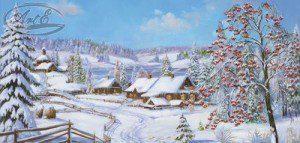 Репродукция Зимний сад 30х40