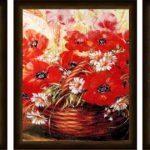 Триптих Красные маки 50х80