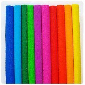 FOLIA Бумага крепированная цветная
