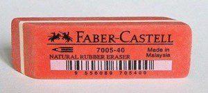 Ластик каучуковый 7005-40 Faber-Castell (цветной)