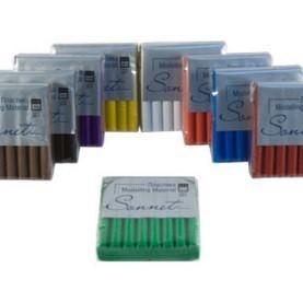 Пластика цветная с блёстками в брусках «Сонет» 56 г